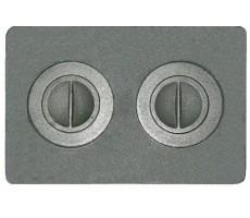Плита чугунная 2-конф. П2-7, 340х510 МАЛАЯ (РУБЦОВСК)